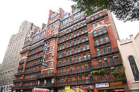 The historic Hotel Chelsea (Chelsea Hotel) on West 23rd Street in Manhattan, New York on 20 October 2010.  The hotel has been put up for sale by the families that owned and operated it for more than 65 years.