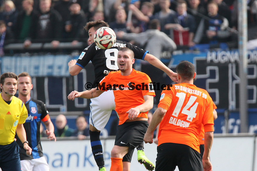 Jerome Gondorf (SV98) gegen Mario Engels (FSV) - FSV Frankfurt vs. SV Darmstadt 98, Frankfurter Volksbank Stadion