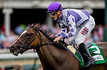 May 3, 2019 : Concrete Rose, #5, ridden by jockey Julien Leparoux, wins the Edgewood on Kentucky Oaks Day at Churchill Downs on May 3, 2019 in Louisville, Kentucky. Kaz Ishida/Eclipse Sportswire/CSM