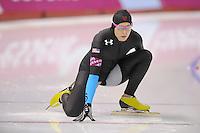 SCHAATSEN: CALGARY: Olympic Oval, 08-11-2013, Essent ISU World Cup, 500m, Lauren Cholewinski (USA), ©foto Martin de Jong