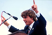 Actor Tom Cruise makes remarks at an Earth Day rally at the United States Capitol in Washington, DC on April 22, 1990.  The event celebrated the 20th anniversary of Earth Day.<br /> Credit: Howard L. Sachs / CNP