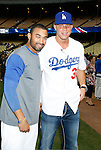 LOS ANGELES, CA. - September 02: Matt Kemp of the Los Angeles Dodgers and Blake Griffin, top draft pick of the Los Angeles Clippers  posing before he throws the ceremonial first pitch at Dodger Stadium in Los Angeles, California on September 2, 2009.