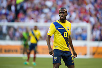 Seattle, WA - Thursday, June 16, 2016: Ecuador forward Enner Valencia (13) during the Quarterfinal of the 2016 Copa America Centenrio at CenturyLink Field.