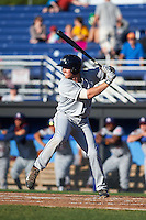 Mahoning Valley Scrappers third baseman Austin Fisher (7) at bat during a game against the Batavia Muckdogs on June 23, 2015 at Dwyer Stadium in Batavia, New York.  Mahoning Valley defeated Batavia 11-2.  (Mike Janes/Four Seam Images)