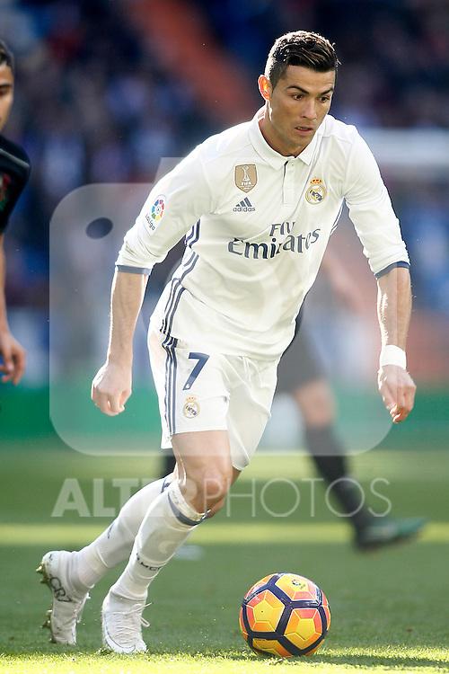 Real Madrid's Cristiano Ronaldo during La Liga match. January 7,2016. (ALTERPHOTOS/Acero)