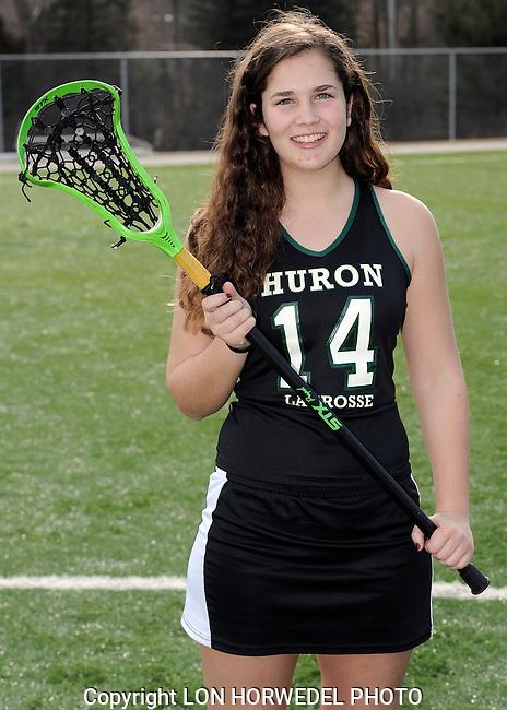 Huron High School girl's varsity lacrosse team. 4-2-14
