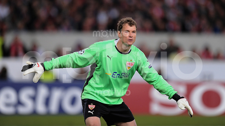 FUSSBALL  International  Champions   League  Hinspiel   SAISON 2009/2010    VfB Stuttgart -  FC Barcelona      23.02.2010 Torwart Lehmann (VfB)