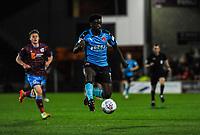 Fleetwood Town's forward Jordy Hiwula (7) brings the ball under control during the Sky Bet League 1 match between Scunthorpe United and Fleetwood Town at Glanford Park, Scunthorpe, England on 17 October 2017. Photo by Stephen Buckley/PRiME Media Images