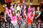 Enjoying her hen night was Catherine Broderick from Athea, pictured here with family and friends last Saturday night in Leen's Hotel, Abbeyfeale. F l-r: Aishling Moloney, Eileen Broderick, Catherine Broderick, Carol Murphy. B l-r: Vikki Broderick, Maureen Bolger, Mairead Shanahan, Niamh O'Donnell, Eileen Broderick, Kati Moloney, Mary Ita Murphy, Tina Sheehy and Mary J Murphy.