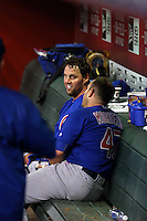John Lackey (left), Miguel Montero (right) - 2016 Chicago Cubs (Bill Mitchell)