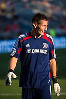 Chicago Fire goalkeeper coach Aron Hyde. The Chicago Fire defeated the Philadelphia Union 3-1 during a Major League Soccer (MLS) match at PPL Park in Chester, PA, on August 12, 2012.