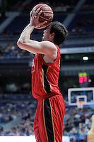 Cai Zaragoza's Sam Van Rossom during Liga Endesa ACB match.November 11,2012. (ALTERPHOTOS/Acero) /NortePhoto
