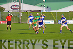 In Action Lixnaw Paul Galvin and St. Brendans Rory Horgan at the  Garveys Supervalu Senior Hurling Championship Semi Final – Replay Lixnaw V St Brendans  at Austin Stack park on Saturday