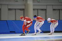 SCHAATSEN: SALT LAKE CITY: Utah Olympic Oval, 12-11-2013, Essent ISU World Cup, training, Team Russia, ©foto Martin de Jong