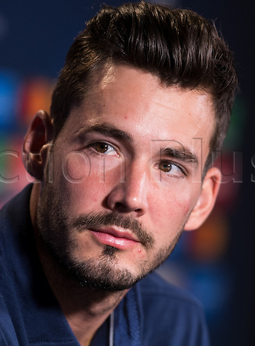 26.09.2016. Dortmund, Germany.  Goal keeper Roman Buerki from Borussia Dortmund answers journalists' questions in Dortmund, Germany, 26 September 2016. Dortmund plays in Champions League versus Real Madrid on 27 September 2016.