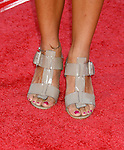 "Actress Rashida Jones 's shoes at the Los Angeles Premiere Of ""Tropic Thunder"" at the Mann's Village Theater on August 11, 2008 in Los Angeles, California."