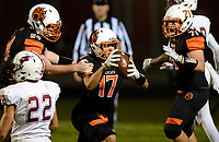 Verona's Haakon Anderson scores a late 2nd quarter touchdown, during Wisconsin Big Eight Conference high school football between Middleton and Verona on Friday, 8/24/18 at Verona High School