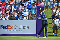 Jason Day (AUS) watches his tee shot on 1 during round 1 of the WGC FedEx St. Jude Invitational, TPC Southwind, Memphis, Tennessee, USA. 7/25/2019.<br /> Picture Ken Murray / Golffile.ie<br /> <br /> All photo usage must carry mandatory copyright credit (© Golffile | Ken Murray)