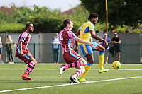 Chidubem Onokwai brings down the ball to score the opening goa during Haringey Borough vs Corinthian Casuals, BetVictor League Premier Division Football at Coles Park Stadium on 10th August 2019