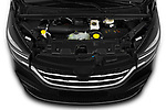 Car stock 2020 Renault Trafic Space Class 4 Door Passenger Van engine high angle detail view