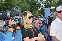 Paulina Gretzky is all smiles after Dustin Johnson (USA) defeated Jon Rahm (ESP) at the World Golf Championships, Dell Technologies Match Play, Austin Country Club, Austin, Texas, USA. 3/26/2017.<br /> Picture: Golffile | Ken Murray<br /> <br /> <br /> All photo usage must carry mandatory copyright credit (&copy; Golffile | Ken Murray)