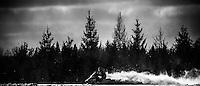 Snowmobiling near Munising on Michigan's Upper Peninsula.