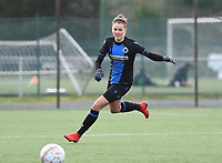 20200329 – BRUGGE, BELGIUM : Charlotte Laridon pictured during a women soccer game between Dames Club Brugge and Standard Femina de Liege on the 17 th matchday of the Belgian Superleague season 2019-2020 , the Belgian women's football  top division , saturday 29 th February 2020 at the Jan Breydelstadium – terrain 4  in Brugge  , Belgium  .  PHOTO SPORTPIX.BE | DAVID CATRY