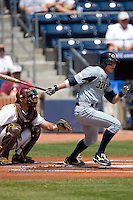 Derek Dietrich #32 of the Georgia Tech Yellow Jackets follows through on his swing versus the Boston College Eagles at Durham Bulls Athletic Park May 21, 2009 in Durham, North Carolina.  (Photo by Brian Westerholt / Four Seam Images)