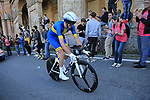 Swedish Champion Tobias Ludvigsson (SWE) Groupama-FDJ on the San Luca climb during Stage 1 of the 2019 Giro d'Italia, an individual time trial running 8km from Bologna to the Sanctuary of San Luca, Bologna, Italy. 11th May 2019.<br /> Picture: Eoin Clarke | Cyclefile<br /> <br /> All photos usage must carry mandatory copyright credit (© Cyclefile | Eoin Clarke)