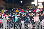Fans of the Ardfert Team who waited for their team to come home to Ardfert on Sunday night..