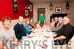 family Reunion : The O'Sullivan family from Listowel enjoying a family dinner at Eabha Joan's Restaurant on Saturday nigh last. L-R: Evan, Ned Paula, Mairiska, Amelia, Cian, Ann, Peter, David & Maurice O'Sullivan.
