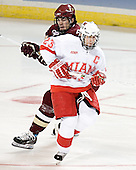 Brian Boyle, Andy Greene - The Boston College Eagles defeated the Miami University Redhawks 5-0 in their Northeast Regional Semi-Final matchup on Friday, March 24, 2006, at the DCU Center in Worcester, MA.