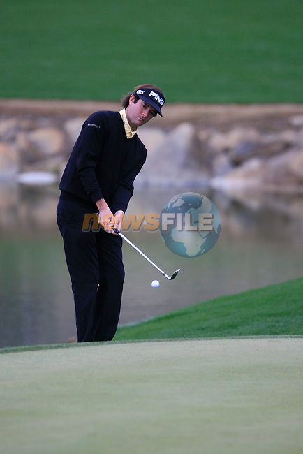 Bubba Watson (USA) in action on the 3rd green during the Quarter Final Matches on Day 4 of the Accenture Match Play Championship from The Ritz-Carlton Golf Club, Dove Mountain, Saturday 26th February 2011. (Photo Eoin Clarke/golffile.ie)