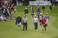 Francesco Molinari (ITA) and Paul Casey (GBR) lead the pack down 17 during round 4 of the World Golf Championships, Mexico, Club De Golf Chapultepec, Mexico City, Mexico. 2/24/2019.<br /> Picture: Golffile | Ken Murray<br /> <br /> <br /> All photo usage must carry mandatory copyright credit (© Golffile | Ken Murray)