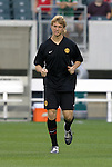 28 July 2004: American teenager Jonathan Spector during pregame warmups. Glasgow Celtic of the Scottish Premier League defeated Manchester United of the English Premier League 2-1 at Lincoln Financial Field in Philadelphia, PA in a ChampionsWorld Series friendly match..