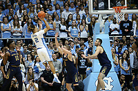 CHAPEL HILL, NC - NOVEMBER 06: Cole Anthony #2 of the University of North Carolina takes a jump shot during a game between Notre Dame and North Carolina at Dean E. Smith Center on November 06, 2019 in Chapel Hill, North Carolina.