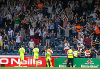 Sammie Szmodics (10) of Colchester United celebrates his goal in front of the Colchester United fans during the Sky Bet League 2 match between Wycombe Wanderers and Colchester United at Adams Park, High Wycombe, England on 27 August 2016. Photo by Liam McAvoy.