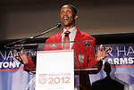 30 May 2012: 2012 Inductee Desmond Armstrong. The 2012 National Soccer Hall of Fame Induction Ceremony was held at Fedex Field in Landover, Maryland before a men's international friendly soccer match between the United States and Brazil.