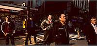 Tokyo - January 2008 - Japan<br /> <br /> People waiting to cross the street , Akihabara district<br /> <br /> &copy; Alessandro Rizzi / GraziaNeri
