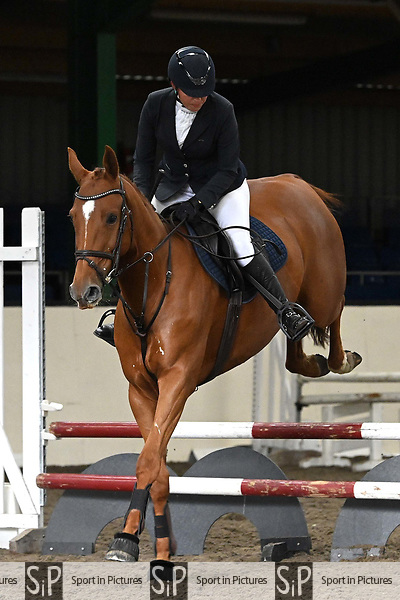 Stapleford Abbotts. United Kingdom. 06 October 2019. 85cm jumping. Essex Riding Club Winter Dressage & Combined Training Qualifiers. Brook Farm training centre. Essex. UK. Credit Garry Bowden/Sportinpictures.~ 06/10/2019.  MANDATORY Credit Garry Bowden/SIP photo agency - NO UNAUTHORISED USE - 07837 394578