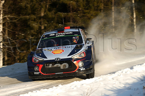 February 12th, 2017; Torsby, Sweden; WRC rally of Sweden; Neuville