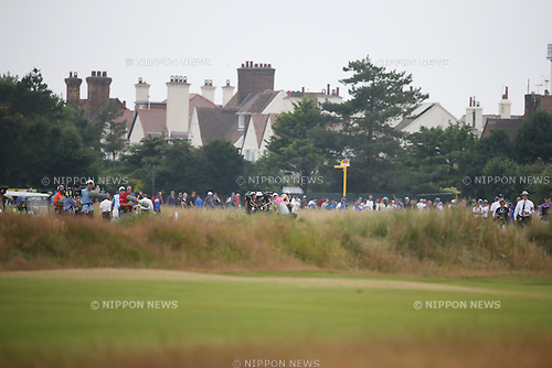 Rory McIlroy (NIR), JULY 20, 2014 - Golf : Rory McIlroy of Northern Ireland plays a shot off on the 18th hole during the final round of the 143rd British Open Championship at Royal Liverpool Golf Club in Hoylake, England. (Photo by Koji Aoki/AFLO SPORT) [0008]