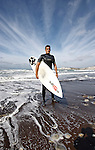 Portrait of a surfer, Isle of Wight