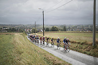 From early on in the race the peloton was chopped into smaller groups due to the hard winds (&amp; rain), so the 'peloton' consisted of 30-somewhat riders for most of the race<br /> <br /> Tour de l'Eurom&eacute;tropole 2016 (1.1)<br /> Poperinge &rsaquo; Tournai (196km)/ Belgium