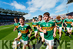 The Kerry minor team celebrate after winning the Electric Ireland GAA Football All-Ireland Minor Championship final between Kerry and Galway at Croke Park, Dublin.