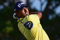 Anirban Lahiri (IND) watches his tee shot on 14 during round 3 of the Honda Classic, PGA National, Palm Beach Gardens, West Palm Beach, Florida, USA. 2/25/2017.<br /> Picture: Golffile | Ken Murray<br /> <br /> <br /> All photo usage must carry mandatory copyright credit (&copy; Golffile | Ken Murray)