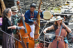 Members of Mamalama accompanied by Fernando Lopez of Andes Manta seen in performance at the Opus 40 Sculpture Park on Fite Road, in Saugerties, NY on Sunday May 21, 2017. Photos by jim Peppler. Copyright Jim Peppler/2017.
