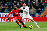 Mbia of Sevilla and Gareth Bale of Real Madrid during La Liga match between Real Madrid and Sevilla at Santiago Bernabeu Stadium in Madrid, Spain. February 04, 2015. (ALTERPHOTOS/Caro Marin) /NORTEphoto.com