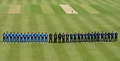 Issued by Cricket Scotland - Scotland V Afghanistan 2nd One Day International - Grange CC - minute silence for Con de Lange - picture by Donald MacLeod - 10.05.19 - 07702 319 738 - clanmacleod@btinternet.com - www.donald-macleod.com