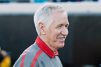 February 9, 2013:   USA Women's National Team head coach Tom Sermanni during action between the USA Women's National Team and Scotland at EverBank Field in Jacksonville, Florida.  USA defeated Scotland 4-1............